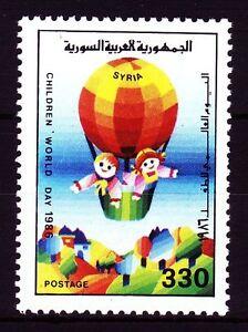 Syrie Syria 1987 ** Mi.1664 Enfants Children 's Day Ballon Balloon [sy374]-afficher Le Titre D'origine