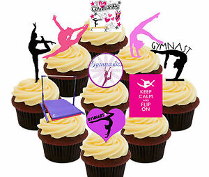 Edible Cake Decorations Fairies : Gymnastics Party! 36 Edible Cup Cake Toppers, Fairy ...