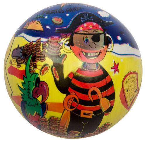 Spielzeug & Modellbau (Posten) Spielball Spielbälle Fußball Pirat Regenbogen 23 cm Ball Wasserball Strandball Spielzeug