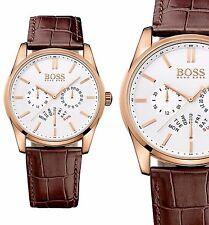 Original Hugo Boss HB 1513125 Chronograph Herrenuhr Braun/Rot Gold NEU!