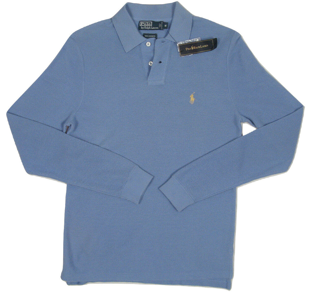 NEW Polo Ralph Lauren 100% Cashmere Polo Shirt   M VERY SLIM FIT LIKE SM OR XS