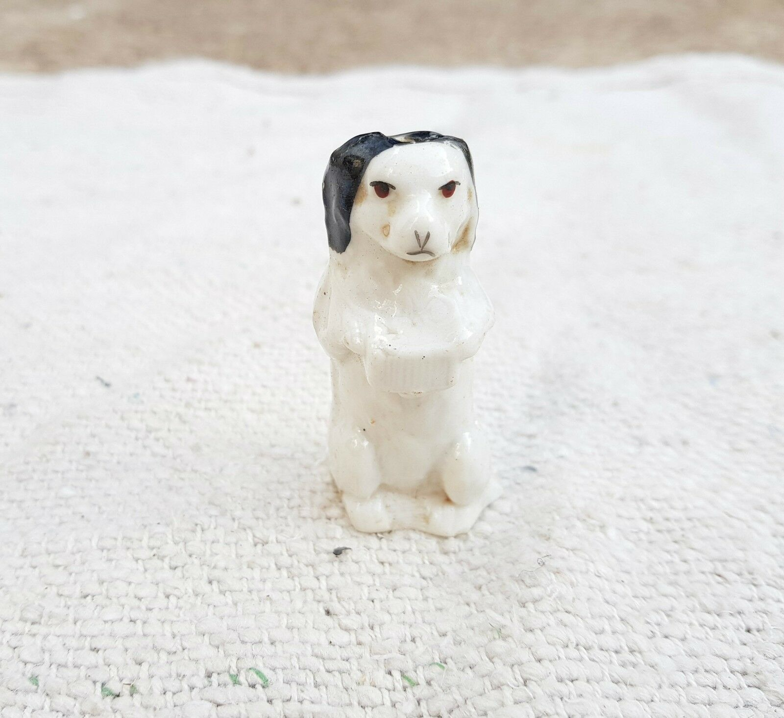 1940's VINTAGE DOG SHAPE PORCELAIN WHISTLE-MAKING GOOD SOUND, JAPAN