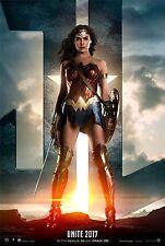 Justice League Movie Poster (24x36) - Gal Gadot, Wonder Woman, Jason Momoa, v2