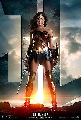 Wonder Woman Justice League Movie Poster Erza Miller v11 - Gal Gadot 24x36