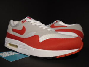 9a63601c04 2009 NIKE AIR MAX 1 QS WHITE SPORT RED COOL GREY BLACK ATMOS 90 ...