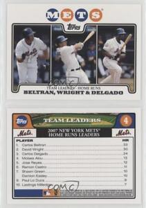 Details About 2008 Topps New York Mets Gift Set 4 Team Leaders Carlos Beltran David Wright