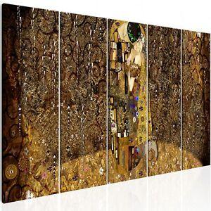 Details zu Wandbilder xxl der Kuss Gustav Klimt Leinwand Bilder Wohnzimmer  l-A-0010-b-m
