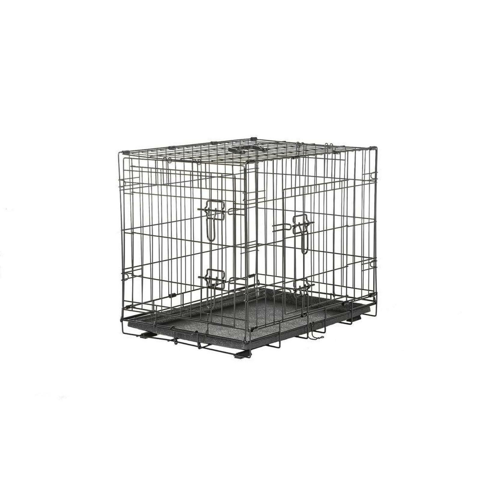 Medium Wire Dog Crate Pet Cage Puppy With Dual Door Divider Panel Training