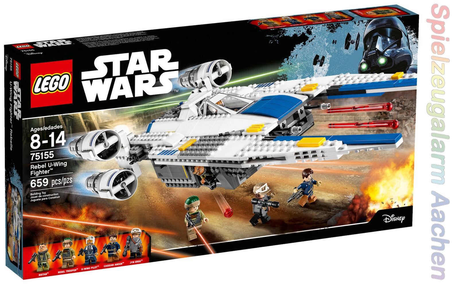 LEGO STAR WARS 75155 Rebel U-Wing Fighter Bistan Jyn Erso Cassian Andor N10/16