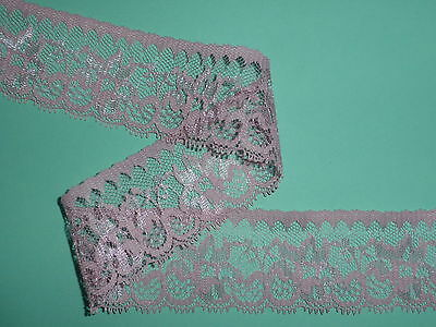 """Pretty Dusky Pink Delicate Nottingham Lace Trim 2"""" 5cm Bridesmaid Cards Costume"""