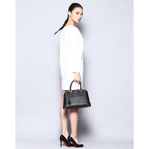 Image Is Loading Prada Saffiano Promenade Top Handle Bag In Black