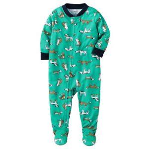 28cc6f26e NWT ☀FOOTED☀ CARTERS Boys Pajamas DOGS New DOGGIES 12M