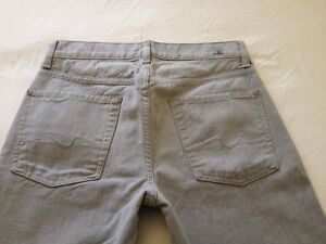 7-for-all-Mankind-Mens-Slimmy-Mid-Rise-Slim-Straight-Gray-Jeans-Size-28-L32
