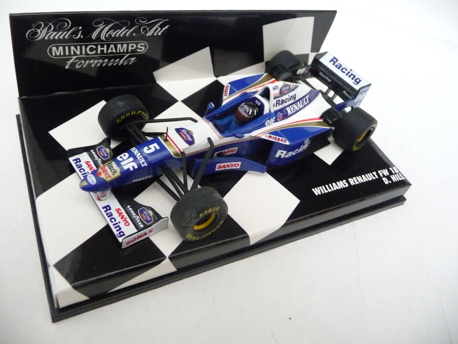 Minichamps 1 43 Williams Renault FW18 Damon Hill 960005