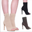 Fashion-Women-Stiletto-High-Heel-Ankle-Boots-Knit-Stretch-Peep-Toe-Shoes-Booties thumbnail 1