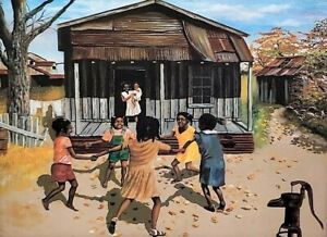 Black-History-Art-Lithograph-Print-on-Canvas-Artist-W-Earl-Robinson