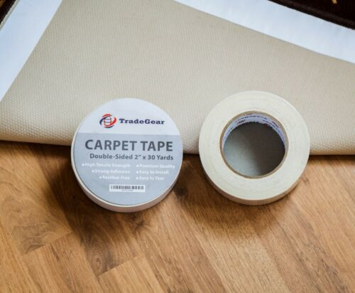 "High Tensile Strength Rug Tape 2/"" x 30 Yard TradeGear Double Sided Carpet Tape"