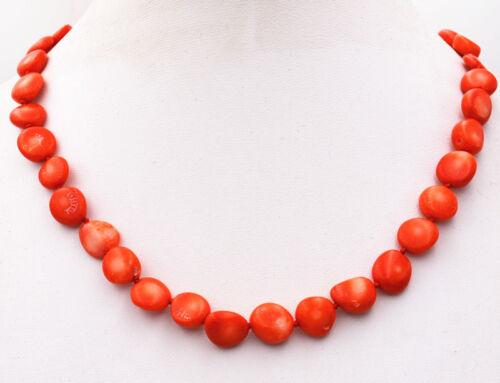 "Nouveau 6x10mm orange corail rouge Freeform loose beads necklace 18 /""AAA"