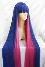 Diao Daiwa Angel Stocking Wig Long : 120cm Blue Pink Cosplay Wigs
