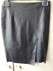 authentic quality exclusive deals a few days away Details about Mint Velvet Black Faux Leather Skirt Size 12