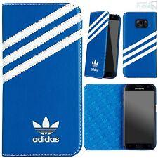 adidas Book Case Samsung Handy Galaxy S7 G930 5,1 Cover Tasche Schutzhülle blau