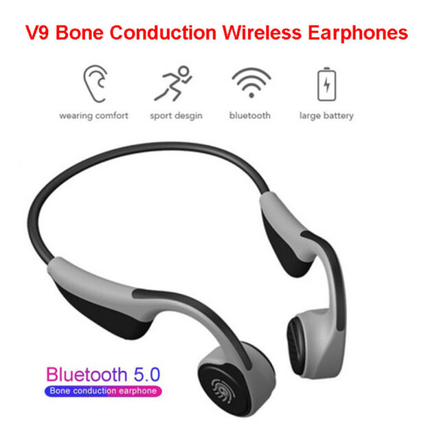 V9 Bluetooth 5.0 Touch Bone Conduction Earphone Wireless Outdoor Sports Headsets