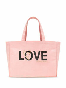 Image is loading Victoria-Secret-Limited-Edition-Sequin-Pink-Love-Tote- 7841a11c2f425