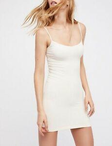 Free-People-Womens-Seamless-Mini-Dress-Slim-White-Size-XS