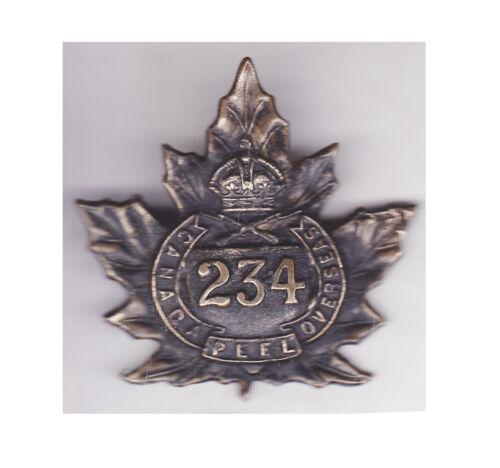 234th Battalion CEF Cap Badge (Ellis Bros)