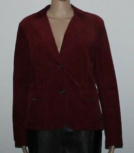 a coste di Giacca Lisa base velluto bordeaux bottoni di coste Button giacca 10 velluto 38 con Tossa alla in misura a in xxIwqCTp