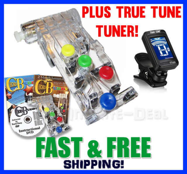 Chord Buddy Guitar Learning System With Clip-on Chromatic Tuner 2day ...