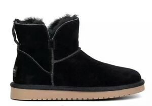 3dcb80908c4 Details about Koolaburra UGG Classic Mini Winter Suede Boot 1015209 Women's  US 6 Black NEW $75
