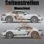 Boxter WUNSCHTEXT Aufkleber Seitenstreifen SET Porsche 718 Cayman