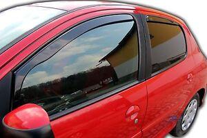 DPE26113-Peugeot-206-5-puertas-1998-2010-viento-desviadores-4pc-Set-tintadas-Heko