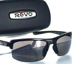 92e9273bef NEW! REVO CRUX S Matte Black POLARIZED Graphite Gray Lens Sunglass ...