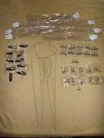 Vintage Fashion Costume Jewelry 8 Chain Neck Vest 32 Rings Lot