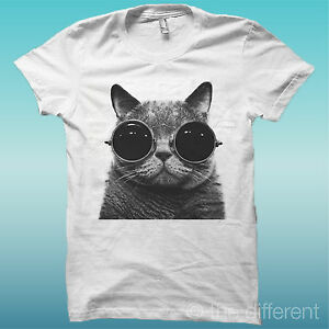 T-SHIRT-GATTO-CON-OCCHIALI-CAT-FUNNY-BIANCO-THE-HAPPINESS-IS-HAVE-MY-T-SHIRT-NEW
