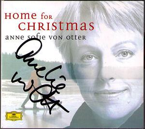 Anne-Sofie-VON-OTTER-Signiert-HOME-FOR-CHRISTMAS-Stille-Nacht-Koppangen-White-CD