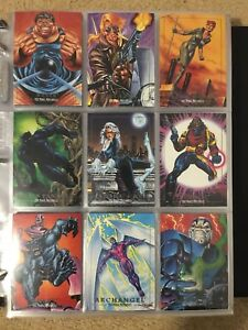 f9e33b8d315 Image is loading 1992-Marvel-Masterpieces-Cards-COMPLETE-BASE-SET-1-