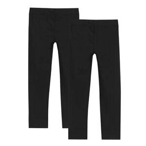 Debenhams Kids 2 Pack Girls Black Slim Fit Trousers
