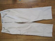 Ladies Columbia GRT Capri Pants Tan/Beige Size 8 Hiking Light Weight Camping EUC