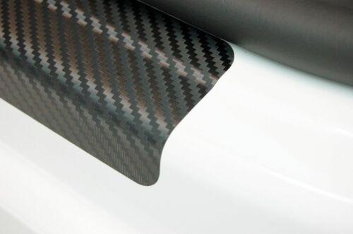 Einstiegsleisten für NISSAN NAVARA D40 Schutzfolie Carbon Schwarz 3D 160µm