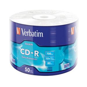 CD-R-52x-700MB-Verbatim-Extra-Protection-Bobina-50-uds