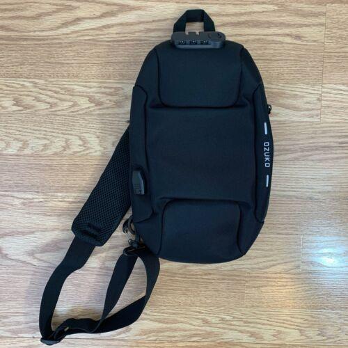 OZUKO Sling Backpack USB Anti-Theft Men's Chest Ba