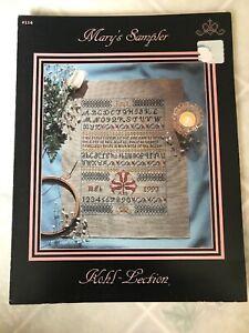 Pattern-Leaflet-Mary-039-s-Sampler-Pattern-Kohl-Lection-114-cross-stitch-1993