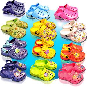 Kinder-Clogs-Schuhe-Hausschuhe-Badeschuhe-Gartenschuhe-Sandalen-GR-18-35