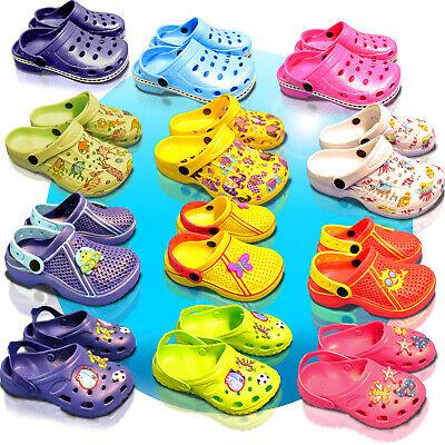 Brioso Bambini Zoccoli Pantofole Scarpe Bagno Scarpe Giardino Scarpe Sandali Taglia 23-35-mostra Il Titolo Originale