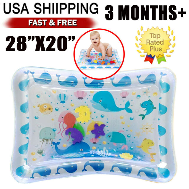Inflatable Water Mat For Baby Infant Toddlers Playmat Mattress Tummy Time H8B2