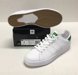 Image is loading ADIDAS-STAN-SMITH-VULC-B49618-WHITE-WHITE-GREEN-