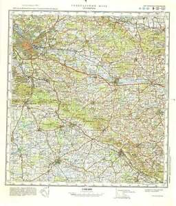 Topographical Map Of Germany.Russian Soviet Military Topographic Maps Osnabruck Germany 1